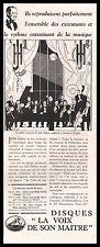 Publicité Gramophone La Voix de son Maitre Orchestre Jack Hilton  ad  1929 - 1j