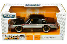 1987 Buick Grand National Die-cast Car 1:24 Jada Toys 8 inch Black and Gray