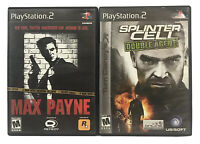 Lot Of 2 PlayStation 2 Video Games Max Payne, Splinter Cell Double Agent PS2
