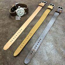 Size 12/14/16mm Handmade Vintage Leather Fixed Lug Watch Wrist Strap Band #138B