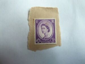 POSTAGE REVENUE 3D STAMP. PURPLE NO SIGN OF IT BEING FRANKED.