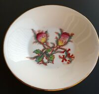 """Unmarked Haviland China Moss Rose Gold Rimmed Butter Pat 4.5"""" Antique x2"""