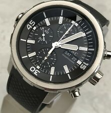 LARGE IWC SCHAFFHAUSEN AQUATIMER IW376803 CHRONO AUTOMATIC DATE DAY MEN'S WATCH