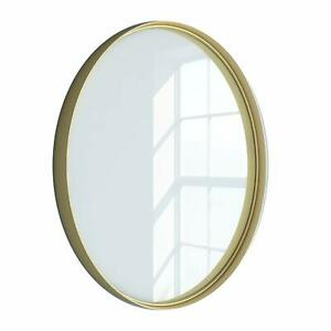 "24"" Kende Round Mirror, Golden Finish"