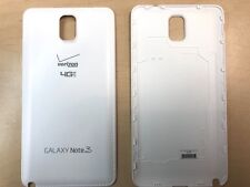 Battery Back Door Cover For Samsung Galaxy Note 3 White w/ Verizon Logo