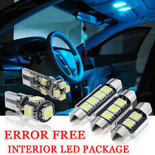 8x Bulbs For AUDI A3 8P 2010-2012 INTERIOR PACKAGE XENON ICE BLUE LED LIGHT KIT