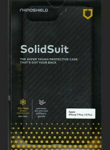 Rhino Shield SolidSuit Iphone 7 Plus 8 Plus Case Black
