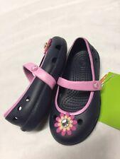 Crocs Kids Keeley Petal Charm Flat Shoes, Navy/pink Girls Size 9