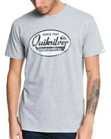 QUIKSILVER MENS T SHIRT.NEW WHAT WE DO BEST GREY COTTON SHORT SLEEVED TOP 9W 92S