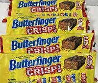4 packs Butterfinger Crisp Fun Size Hydrogenated Original Recipe 6-pack 24 bars