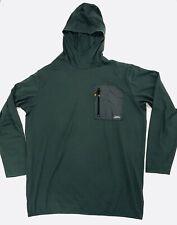 Quiksilver Waterman Hooded Surf Shirt Long Sleeve Stretch Dark Green Mens Sz. Xl