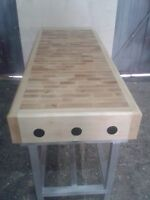 Professional Commercial Butchers Block 2ftx 5ft with a stand