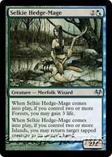 SELKIE HEDGE-MAGE Eventide MTG Blue/Green Creature — Merfolk Wizard Unc