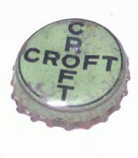 CROFT CREAM ALE BEER CORK CONE TOP CROWN BOTTLE CAP BOSTON MASSACHESETTS CROSS