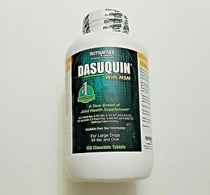 Dasuquin W/MSM~For large dogs 60 Lbs and over. 150 chewable tablets. Exp-12/2022