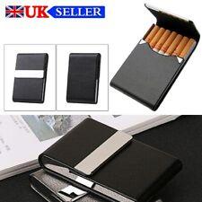Pocket Tobacco Tin Box Case PU Leather Slim Cigarette Roll Up Holder Black