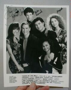 Saved By The Bell 1991 Promo Photo w/ some Cast Autographs Tiffani Thiessen Etc.