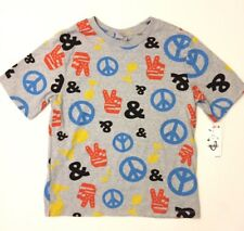 NWT Junk Food Peace Love Music All Over Print T Shirt Size Small
