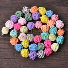 1Strand 40pcs 14mm Mixed Colours Round Twine Polymer Clay Wire Beads