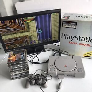 playstation 1 console boxed Plus Games And Controller