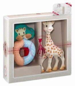 Sophie La Girafe Birth Set 000002 Giraffe mit Stoffrassel Geschenkset Babyset
