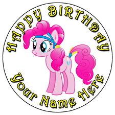 "Mi Pequeño Pony Pinkie Pie Partido - 7.5 ""Personalizadas Comestibles Glaseado Cake Topper"
