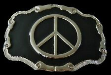 Peace Sign Belt Buckle Rock n Roll Group Band Peace Love Boucle de Ceinture