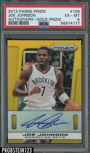 2013-14 Panini Gold Prizm #109 Joe Johnson Brooklyn Nets AUTO /10 PSA 6 EX-MT