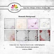 New Dixi Craft 15cm x 15cm Paper Pad Romantic Background
