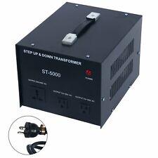 St-5000 Voltage Converter Transformer - 110V/220V - Circuit Breaker Protection