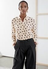 & Other Stories Polka Dot Silk Shirt XS Blouse