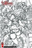 """Lady Death La Muerta #1 Ascension """"RAW"""" Ltd. Ed. 400 Comic Book"""