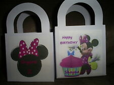 MINNIE MOUSE  Birthday Party pack 12 Favor Boxes Free Personalization