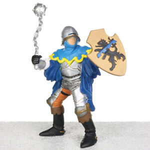 Papo Medieval Era Knight BLUE OFFICER With Mace Figure Figurine # 39255 2005