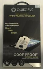 New Quikcell Goof Proof Extreme Glass Screen Protector For Hydro View By Kyocera