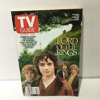 TV Guide Dec 15-21 2001 The Lord of the Rings Cover