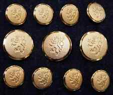 Gold Blazer Buttons Rampant Lion - High Quality