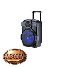 Speaker Audio Bluetooth Akai AKBT800 Music Case Trolley 10 W Karaoke Luci a Led
