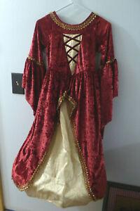 Beautiful Princess Paradise Renaissance Fair Hoop Dress girls size 10   SEE