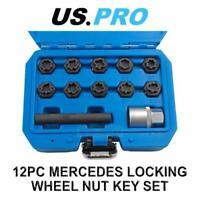 US PRO Tools 12PC Master Mercedes Locking Wheel Nut Key Set 3418