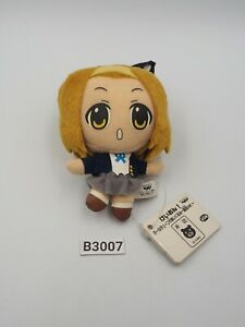 "K-On! Ritsu Tainaka B3007 Banpresto 2010 Mascot 4"" Plush TAG Toy Doll Japan"