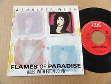 "DISQUE 45T DE JENNIFER RUSH   "" FLAMES OF PARADIS """
