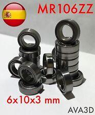 Mr106zz 6x10x3 mm 6*10*3 mr106-2z l-1060zz rodamiento bearing envío rápido