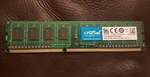 8GB (2 x 4Gb) Crucial DDR3L - 1600 UDIMM Desktop Memory (RAM)  1.35V CL11
