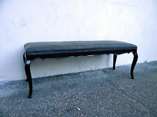 Long French Painted Upholstered Vanity Bench 6150