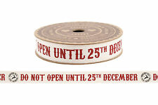 Christmas Ribbon 5 Metre Roll 25th December Reindeer Mail Present Gift Wrapping
