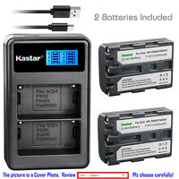 Kastar Battery LCD Dual Charger for Sony NP-FM50 NP-FM55H & Sony CCD-TRV116