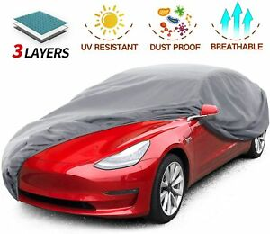 """Leadpro Car Cover, 3 Layer Weather UV Protection Car Length 200"""" Size Sedan"""