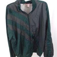 Nucleus VTG 90s Nylon Full Zip Windbreaker Track Jacket Large Green/Grey