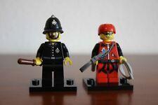 Lego Collectible 2x Minifigures Constable col11-15 + Mountain Climber col11-9